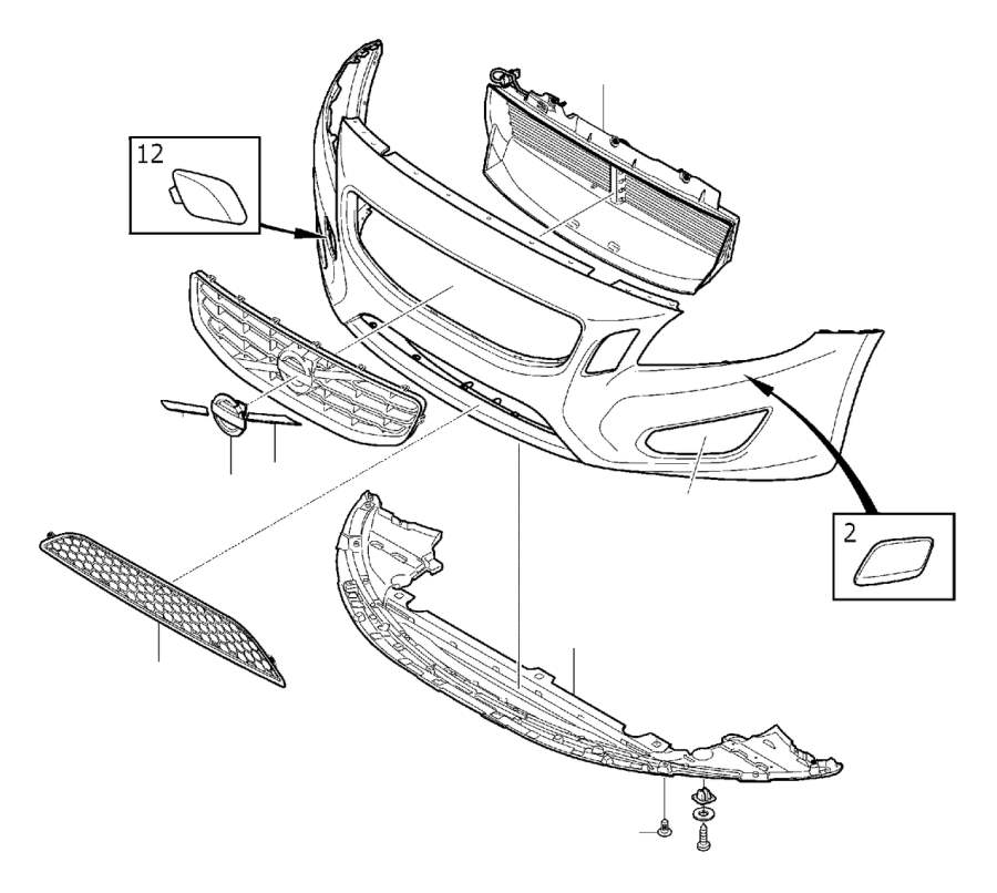 Volvo Parts: Volvo S60 Air Guide. Body, Bumper, Front