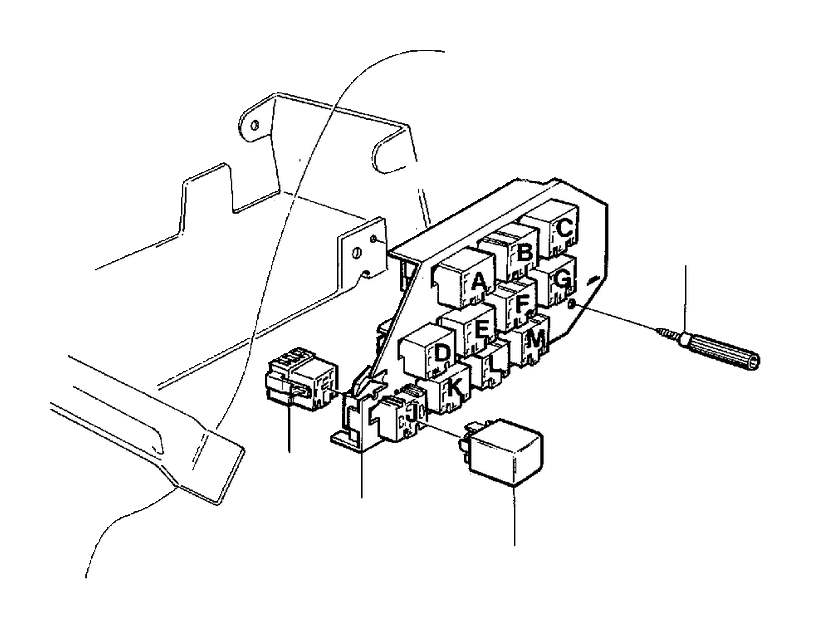 1993 volvo 940 relay  resistance  hella  foglamp