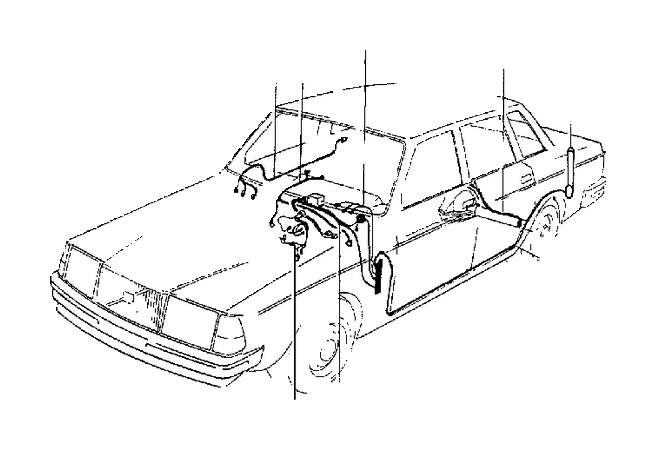 1985 volvo 240 wiring harness  cable  harm  reproductive