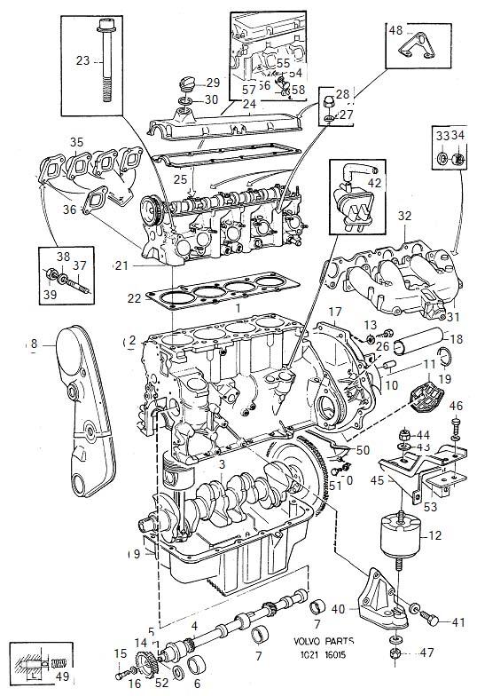 987002 volvo hexagon screw cylinder head engine. Black Bedroom Furniture Sets. Home Design Ideas