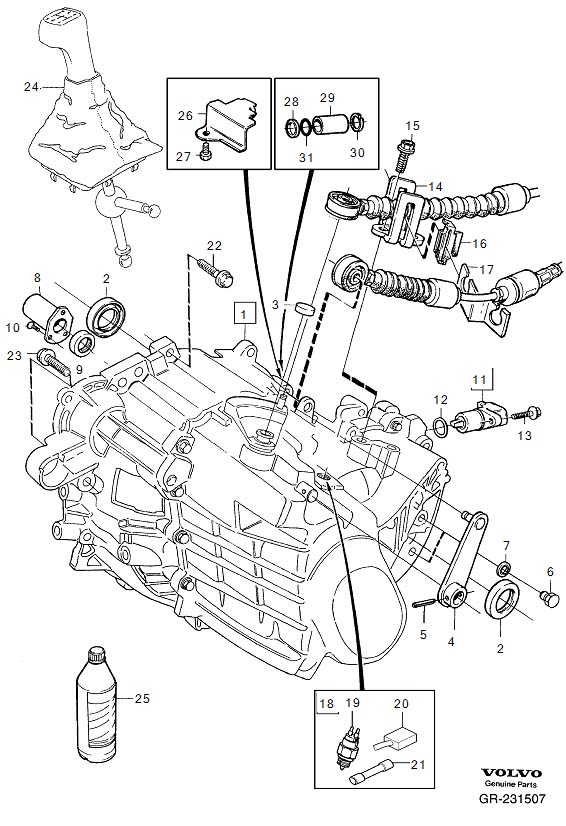 Volvo 850 Manual Transmission Diagram
