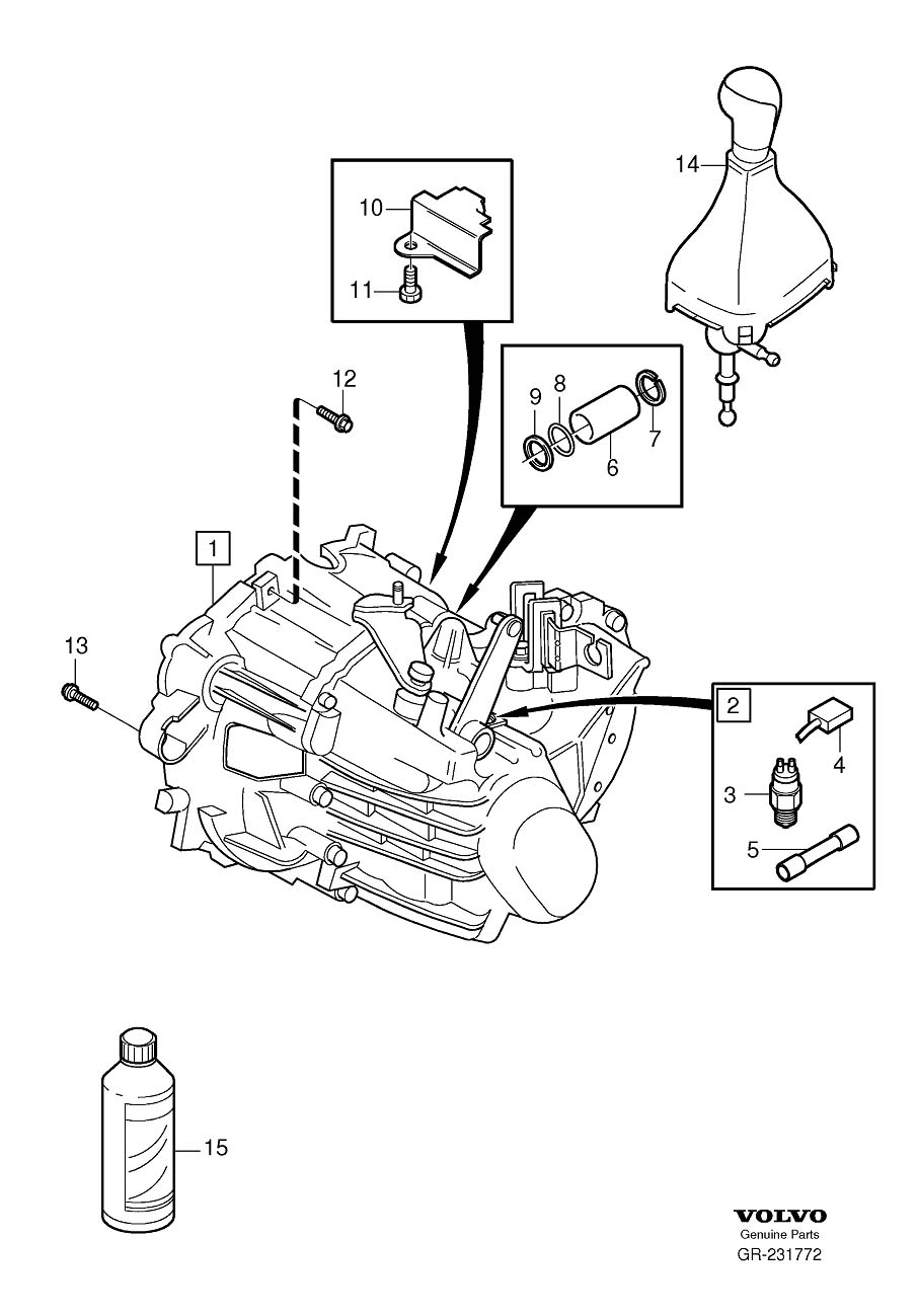 Volvo S70 Drive Shaft Seal  Manual  Gearbox  Dia
