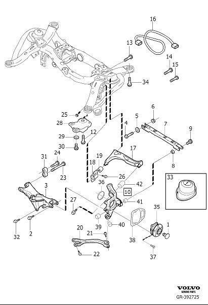 2005 Volvo Xc90 Suspension Arm  Suspension Panhard Rod