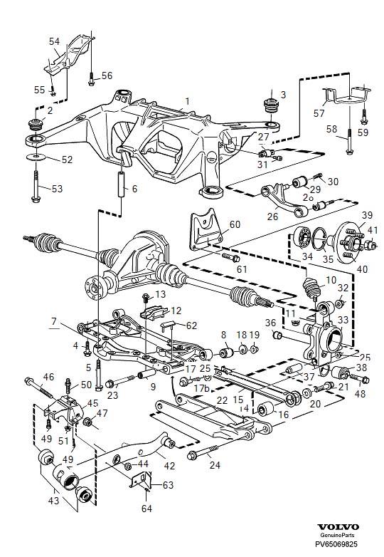 6819712  Volvo Bushing Rear suspension MULTILINK 1995