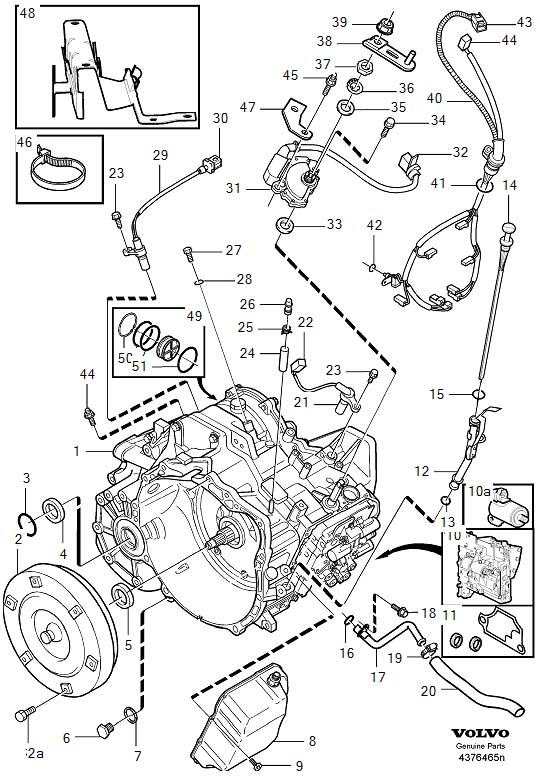 volvo v40 control system  transmission  automatic  gearbox